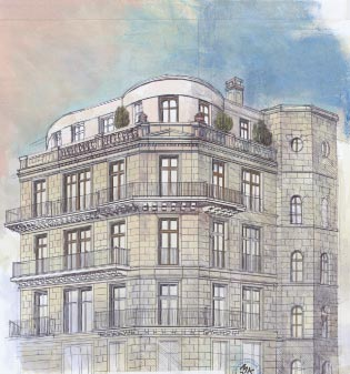 fellini residences die luxus immobilie in berlin mitte eigentumswohnung mit top lage. Black Bedroom Furniture Sets. Home Design Ideas